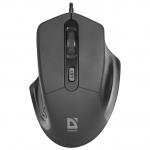 Мышь проводная Defender Datum MB-347 черный,4 кнопки, 800-1600 dpi, НОВИНКА!