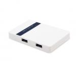 Расширитель USB, Deluxe, EV-HUB3001, Белый